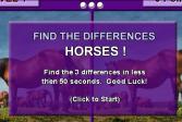 Играть Найди отличия: Лошади онлайн флеш игра для детей