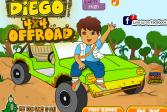 Играть Диего 4x4 Бездорожье онлайн флеш игра для детей