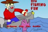 Играть Большая забавная рыбалка онлайн флеш игра для детей