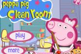 Играть Свинка Пеппа убирает в комнате онлайн флеш игра для детей