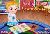 Играть Крошка Хезел учит времена года онлайн флеш игра для детей