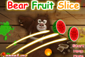 Играть Медведи соседи: Медведь режет фрукты онлайн флеш игра для детей
