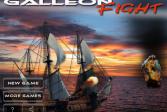Играть Битва галеонов онлайн флеш игра для детей