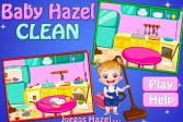 Играть Малышка Хейзел: Уборка онлайн флеш игра для детей