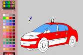 Играть Раскраска: старая полицейская машина онлайн флеш игра для детей
