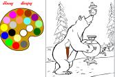 Играть Маша и Медведь: Чай из самовара онлайн флеш игра для детей