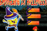Играть Губка Боб на Хэллоуин онлайн флеш игра для детей
