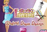 Играть Студия моды - платье для коктейля онлайн флеш игра для детей