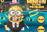 Играть Зубные проблемы Миньона онлайн флеш игра для детей