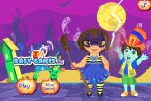 Играть Большие приготовления к Хэллоуину Доры онлайн флеш игра для детей