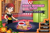 Играть Кулинарный мастер класс от Сары. Жуткие закуски онлайн флеш игра для детей