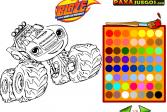 Играть Вспыш и чудо-машинки: Раскраска онлайн флеш игра для детей