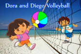 Играть Даша и Диего играют в волейбол онлайн флеш игра для детей