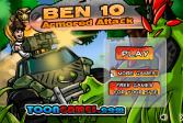 Играть Бен 10 Танковая Атака онлайн флеш игра для детей