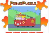 Играть Свинка Пеппа: Пазлы онлайн флеш игра для детей