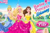 Играть Барби принцесса Диснея онлайн флеш игра для детей