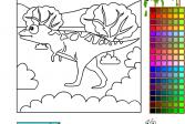 Играть Динозавр онлайн флеш игра для детей