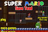 Играть Супер Марио - Спасти Тода онлайн флеш игра для детей