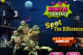 Играть Черепашки ниндзя: найди отличия онлайн флеш игра для детей