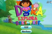 Играть Дора путешественница. Трюки на велосипеде онлайн флеш игра для детей