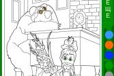Играть Маша и Медведь: Подготовка школе онлайн флеш игра для детей