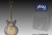 Играть Виртуальная гитара - Гибсон онлайн флеш игра для детей