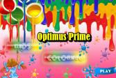 Играть Трансформеры: Оптимус Прайм: Раскраска онлайн флеш игра для детей