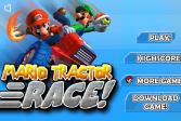 Играть Марио: Гонка на тракторе онлайн флеш игра для детей