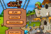 Играть Долг лучников онлайн флеш игра для детей