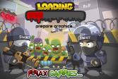 Играть Вторжение зомби с читами онлайн флеш игра для детей