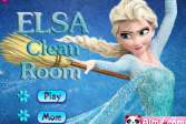 Играть Эльза убирает в комнате онлайн флеш игра для детей