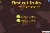 Играть Быстрая нарезка фруктов онлайн флеш игра для детей