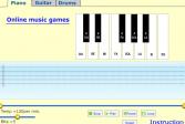 Играть Музыкальная машина: Пианино, гитара и бараба онлайн флеш игра для детей