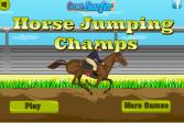 Играть Прыжки на лошади: Чемпионы онлайн флеш игра для детей