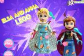 Играть Холодное сердце: Лего - Эльза и Анна онлайн флеш игра для детей