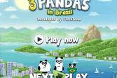 Играть Три панды в Бразилии онлайн флеш игра для детей