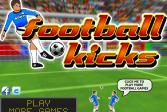 Играть Футбольные удары онлайн флеш игра для детей
