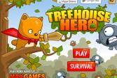 Играть Герой из хижины на дереве онлайн флеш игра для детей