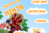 Играть Ниндзя без меча онлайн флеш игра для детей