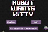 Играть Робот хочет Китти онлайн флеш игра для детей