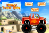 Играть Гомер едет на грузовике онлайн флеш игра для детей
