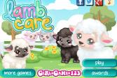 Играть Уход за барашком онлайн флеш игра для детей