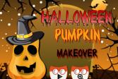 Играть Хэллоуин украшение тыквы онлайн флеш игра для детей