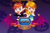 Играть Дьявольские близнецы Хэллоуина онлайн флеш игра для детей
