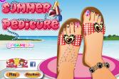 Играть Летний педикюр онлайн флеш игра для детей