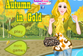Играть Осень в золоте онлайн флеш игра для детей