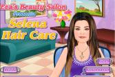 Играть Салон красоты Евы: уход за волосами Селены онлайн флеш игра для детей