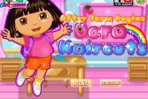Играть Причёска для Доры онлайн флеш игра для детей