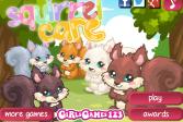 Играть Уход за белками онлайн флеш игра для детей
