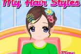 Играть Мои причёски онлайн флеш игра для детей